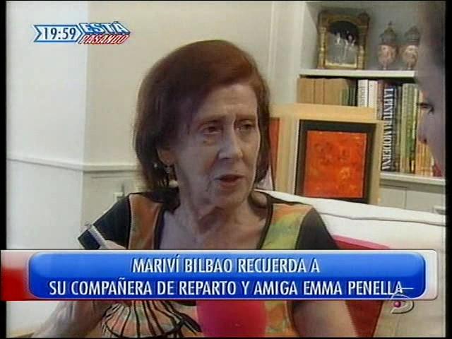 Mariví Bilbao recuerda a Emma Penella en 2007