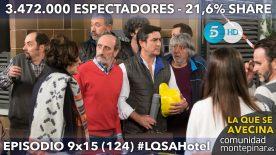 LQSA 9x15 Audiencias