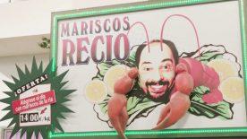 Cartel de Mariscos Recio