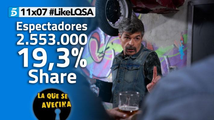 LQSA 11x07 - Audiencias