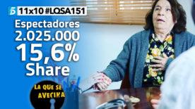 LQSA 11x10 - Audiencias