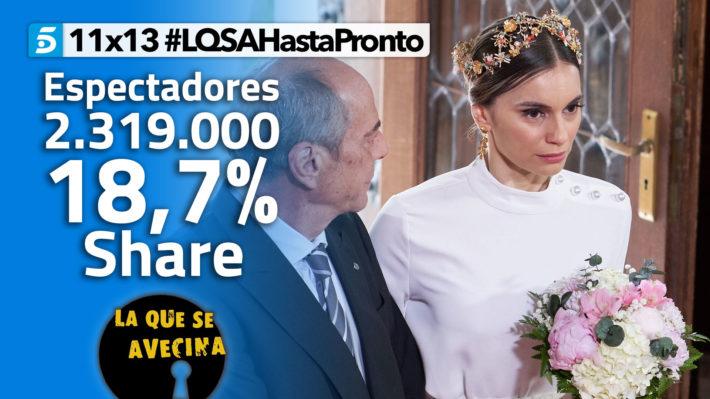 LQSA 11x13 - Audiencias